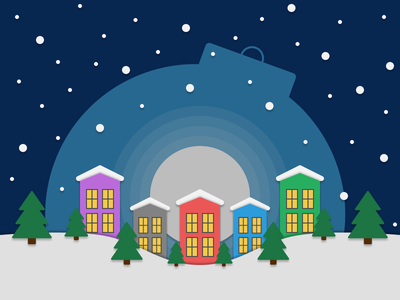 Winter Wonderland 2d art winter vector illustration figma