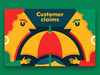 Customer Claims claims customer client color characterdesign simple character vector illustrator basic marketing business funny illustration