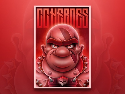 The Barbarian poster barbarian fantasy rpg gamification game photoshop characterdesign character illustration