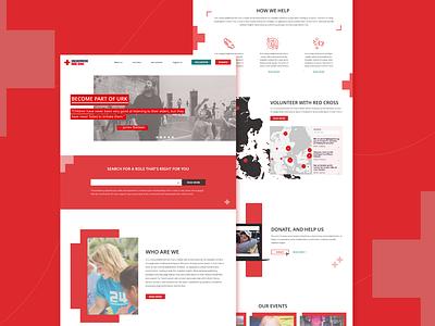 URK Denmark    website remake website concept health organizations redcross uxdesign webdesign website branding ui xd design