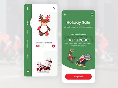 Christmas Online Store minimal app web ui design