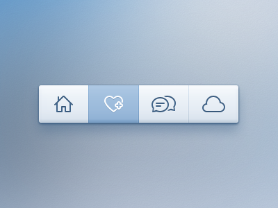 Toolbar psd download source icons ui design cloud chat discussions home like plus toolbar menu pakistan