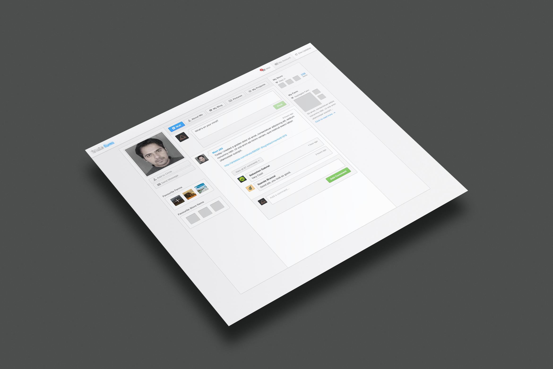 Screen user profile page