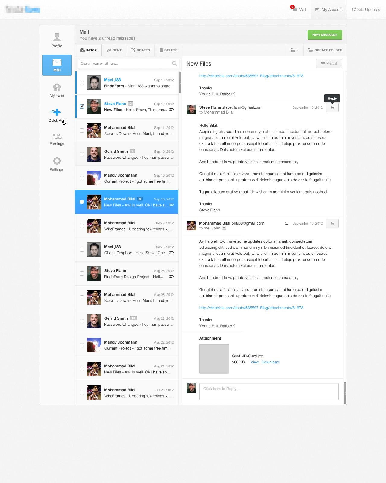 Actual pixels admin mail