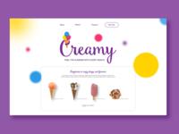 Ice Cream website desgn