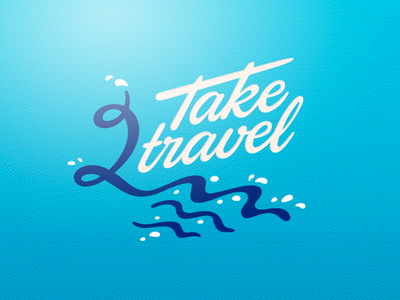 Travel vacation tarvel water logotype label