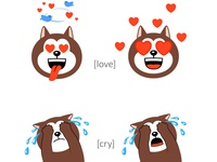 Emoticons Dogs. Part 1