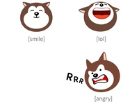 Emoticons Dogs. Part 2