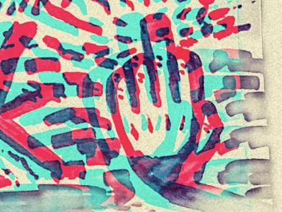 Remain Silent hand drawn illustrator icon design