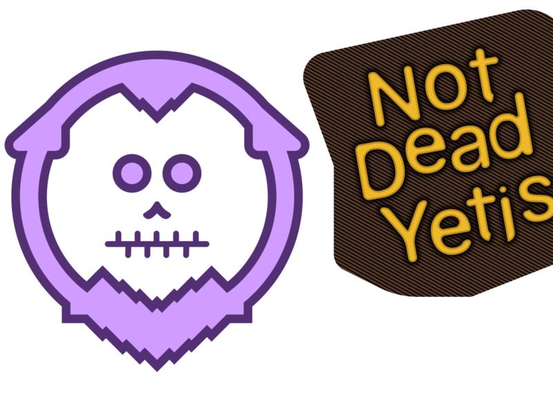 not dead yetis sports branding illustration experiment sketch design