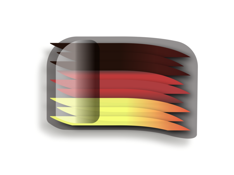Flag of Germany yellow black red flat design icon vexillology flag german germany