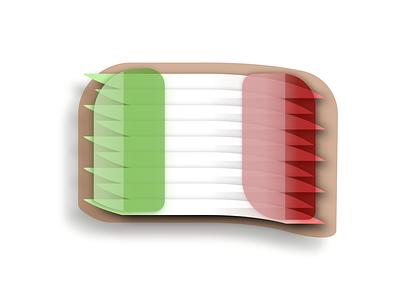 Flag of Italy red white green 3d 2d flag design digital italy flag icon design