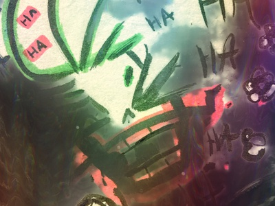 ha ha ha green red hand drawn sketch design illustration batman joker