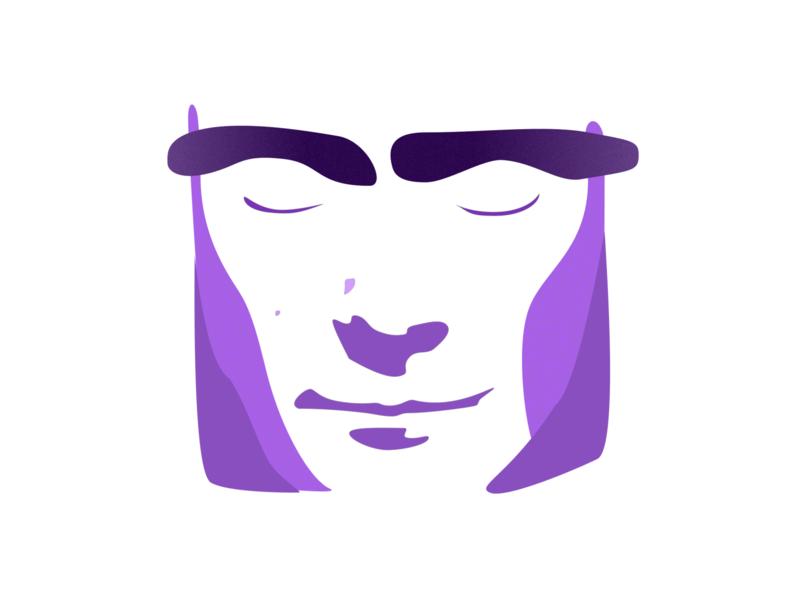 phil in the air tonight purple gradient genesis phil collins philly purple sketch illustration design
