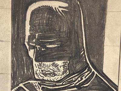 Sad Bat batman the animated series blackandwhite black  white black pen ink illustration klaus janson batman v superman batman hand drawn sketch