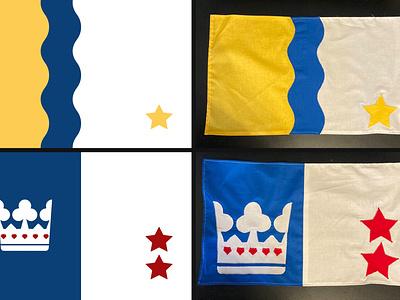 design v reality flag logo crown yellow blue red design vexillology flag design flags flag
