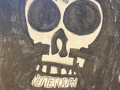 Vote or die skull