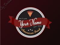 Retro pizza sample logo