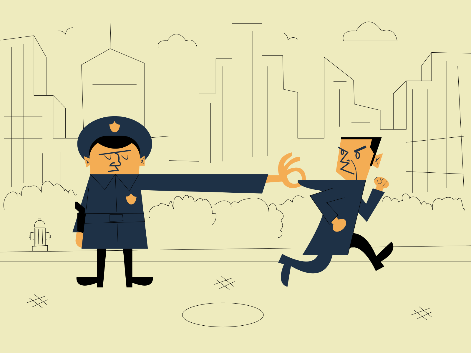 Long Arm of the Law by Rick Hines on Dribbble
