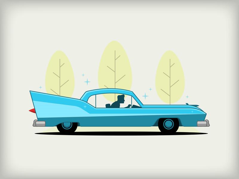 50s Car Doodle