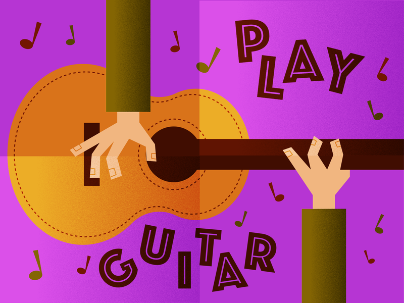 Play Guitar illustrator retro simple minimalist illustraion seattle illustrations illustration illustration digital illustration art