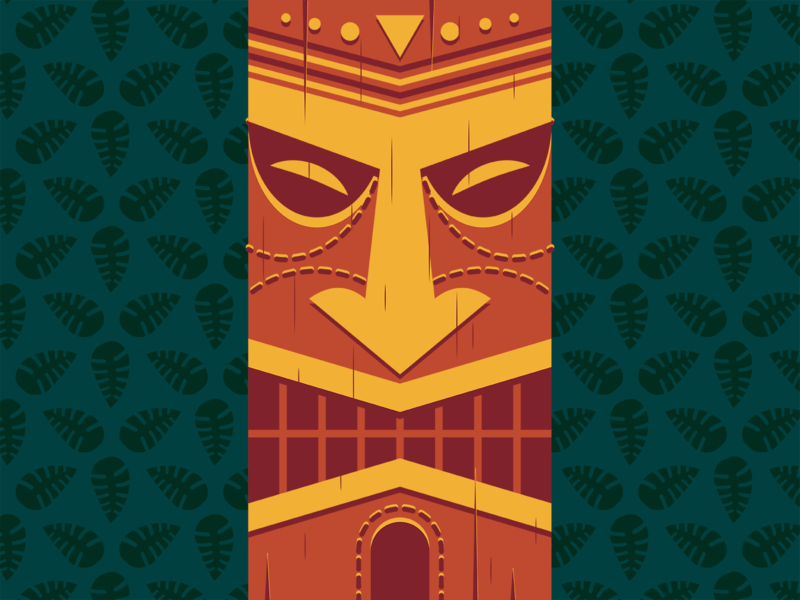 Tiki illustrator retro simple minimalist illustraion seattle illustrations illustration illustration digital illustration art