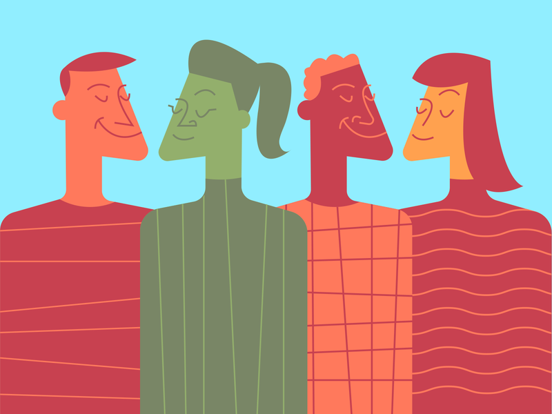 Diversity illustrator retro simple minimalist illustraion seattle illustrations illustration illustration digital illustration art