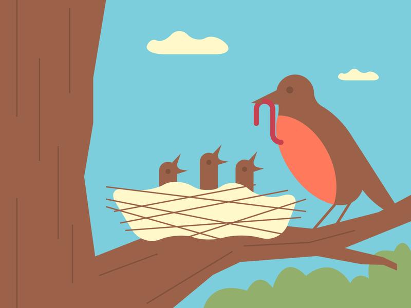 Spring springtime spring illustrator retro simple minimalist illustraion seattle illustrations illustration illustration digital illustration art