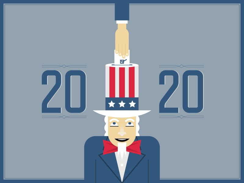 Vote Blue 2020 illustrator retro simple minimalist illustraion seattle illustrations illustration illustration digital illustration art