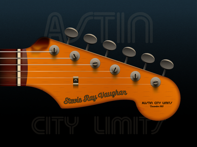Stevie Ray Vaughan - Austin City Limits stratocaster fender stevierayvauhan austincitylimits illustraion seattle illustrations illustration illustration digital illustration art