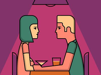 Date Night illustrator retro simple minimalist illustraion seattle illustrations illustration illustration digital illustration art