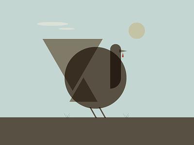 Mid-Century Turkey thursday thanksgiving turkey retro simple minimalist illustraion seattle illustrations illustration illustration digital illustration art