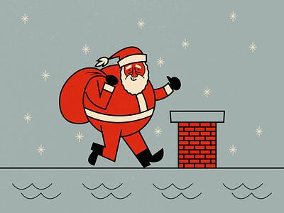 Santa illustrator retro simple minimalist illustraion seattle illustrations illustration illustration digital illustration art