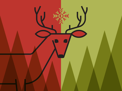 Christmas Deer illustrator deer christmas minimalist illustraion seattle illustrations illustration illustration digital illustration art