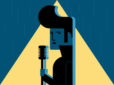 Elvis in the Rain rock and roll singer elvis presley elvis minimalist illustraion seattle illustrations illustration illustration digital illustration art