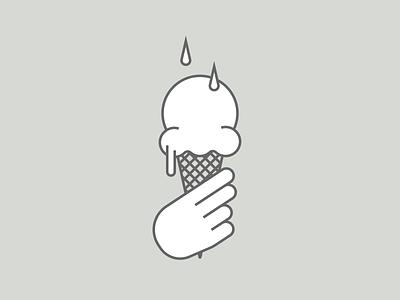 Tears on My Ice Cream icecreamcone tears icecream minimalist illustraion seattle illustrations illustration illustration digital illustration art