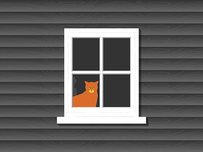 Cat House window house cat minimalist illustraion seattle illustrations illustration illustration digital illustration art