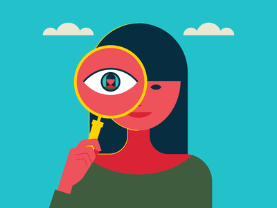 Google Yourself illustrator retro simple minimalist illustraion seattle illustrations illustration illustration digital illustration art