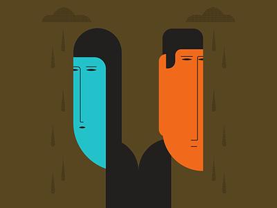 Long Faces illustrator retro simple minimalist illustraion seattle illustrations illustration illustration digital illustration art