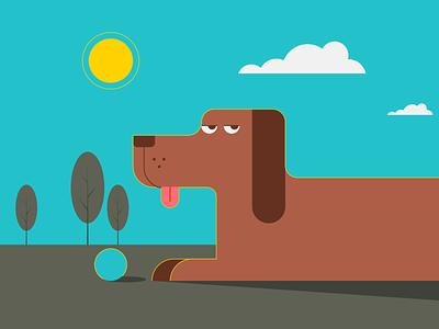 Dog Park park dogpark dog simple minimalist illustraion seattle illustrations illustration illustration digital illustration art