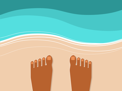 Beach Time illustrator retro simple minimalist illustraion seattle illustrations illustration illustration digital illustration art