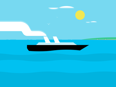 Cruise illustrator retro simple minimalist illustraion seattle illustrations illustration illustration digital illustration art