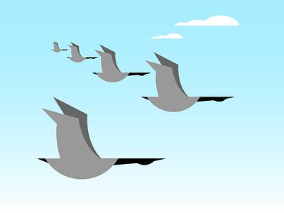 Formation formation geese minimalist illustraion seattle illustrations illustration illustration digital illustration art