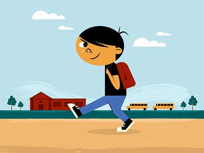 School Boy minimalist illustraion seattle illustrations illustration illustration digital illustration art