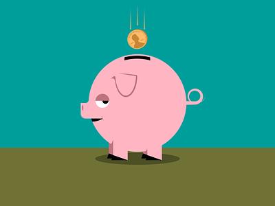 Piggy minimalist illustraion seattle illustrations illustration illustration digital illustration art