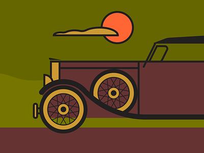 Classic Transportation minimalist illustraion seattle illustrations illustration illustration digital illustration art