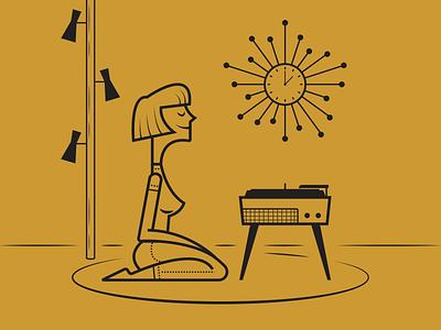 Vinyl Night minimalist illustraion seattle illustrations illustration illustration digital illustration art
