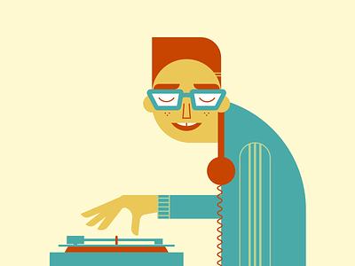 DJ records music dj minimalist illustraion seattle illustrations illustration illustration digital illustration art