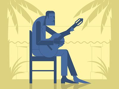 Spanish Guitar minimalist illustraion seattle illustrations illustration illustration digital illustration art