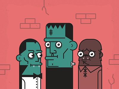 Monster Mash halloween monster minimalist illustraion seattle illustrations illustration illustration digital illustration art